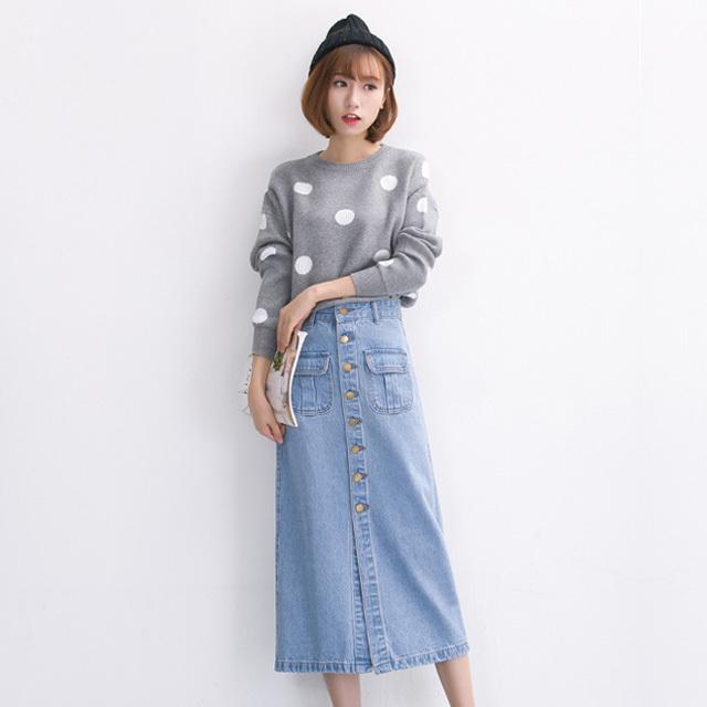 【春の愛されコーデ♡】定番デニムスカートで作りましょう♪