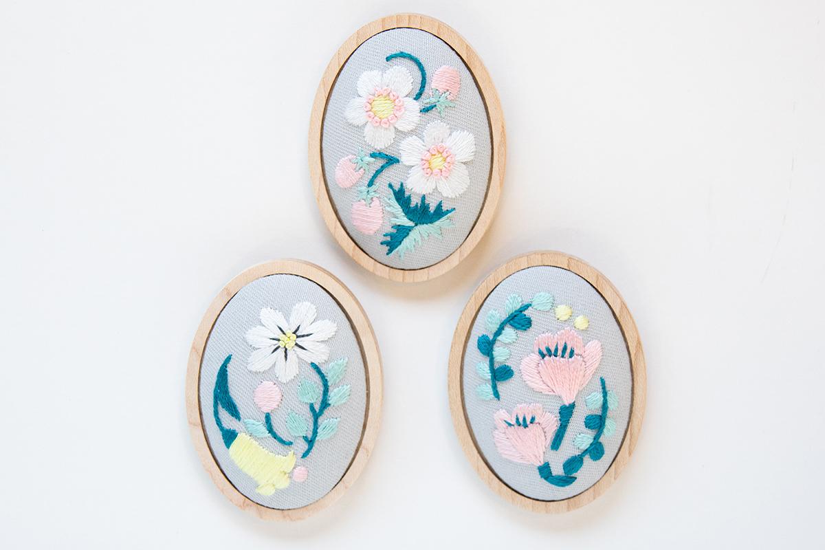 【ハンドメイド】刺繍作家が考えた可愛いブローチ台