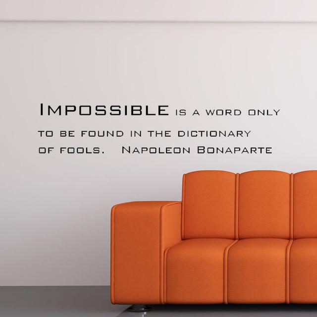 英語の名言 おしゃれインテリアの決定版 新しいライフスタイルに ナポレオンのウォールステッカー