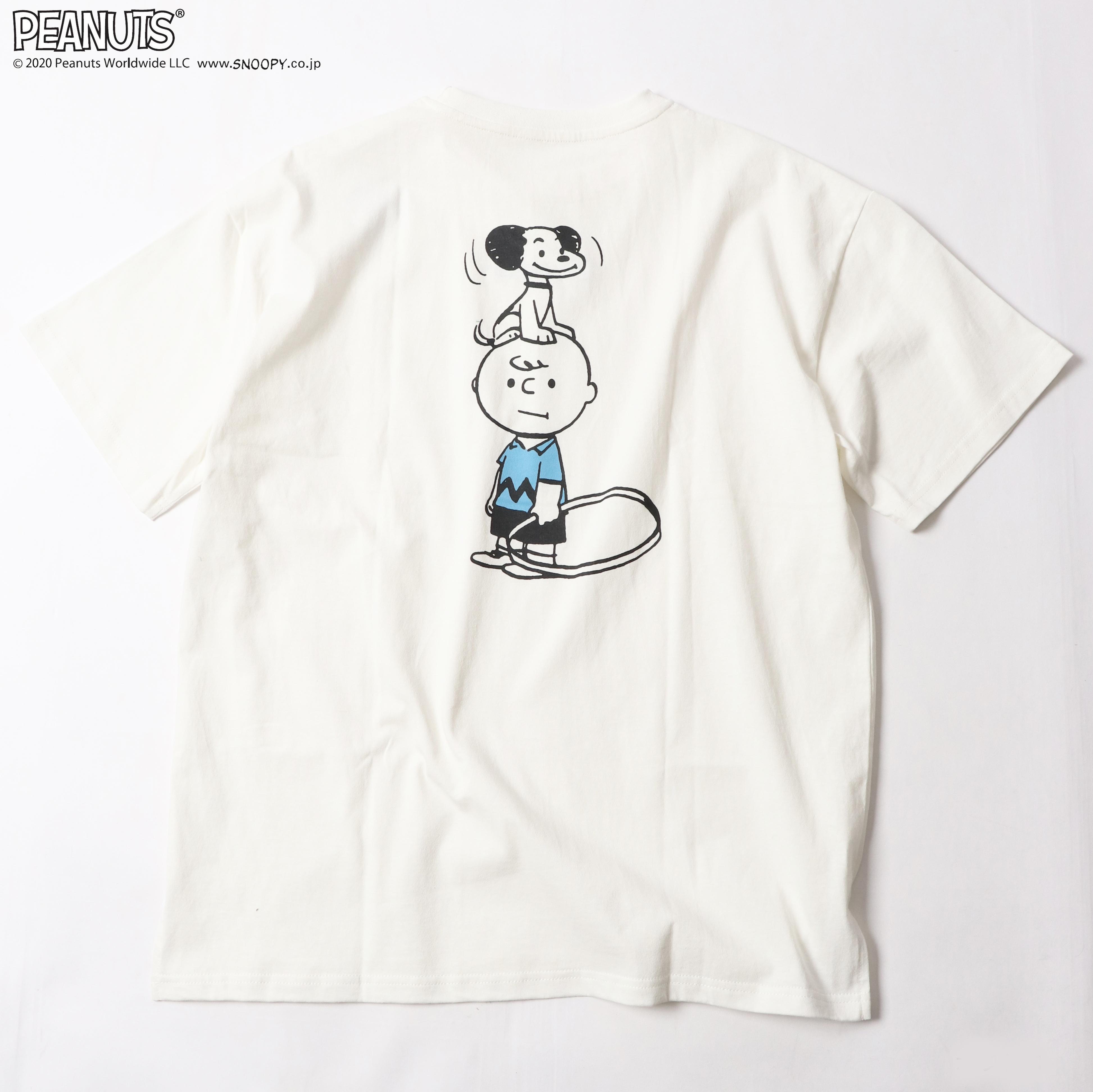 ヴィンテージイラストがレトロかわいいスヌーピー半袖Tシャツ
