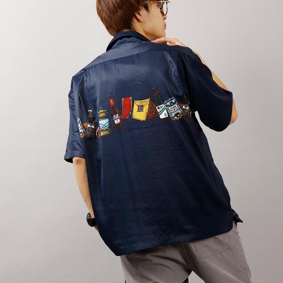 夏にぴったり!個性的なデザイン開襟シャツ!