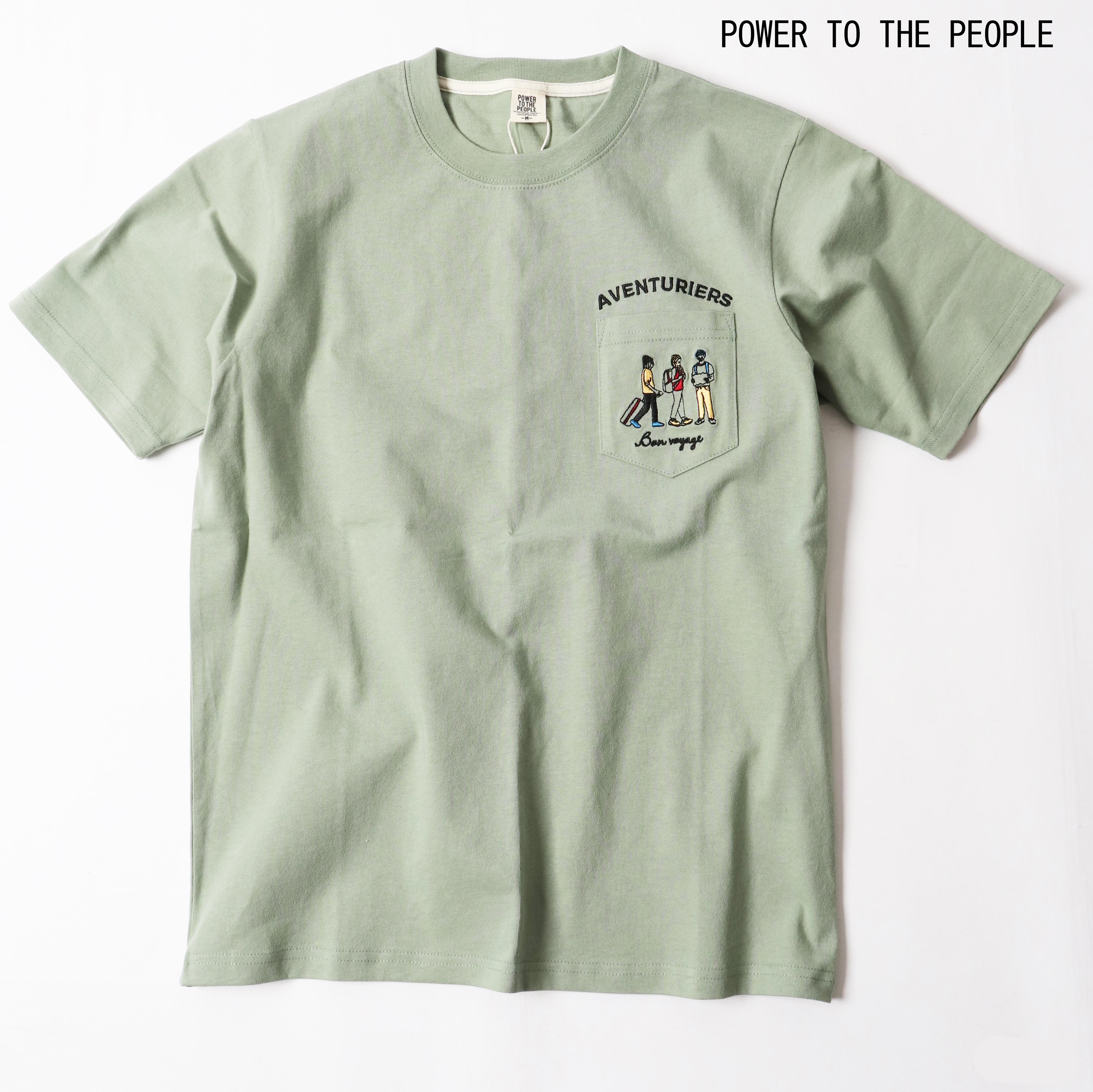 胸ポケットの刺繍がアクセントのシンプルTシャツ