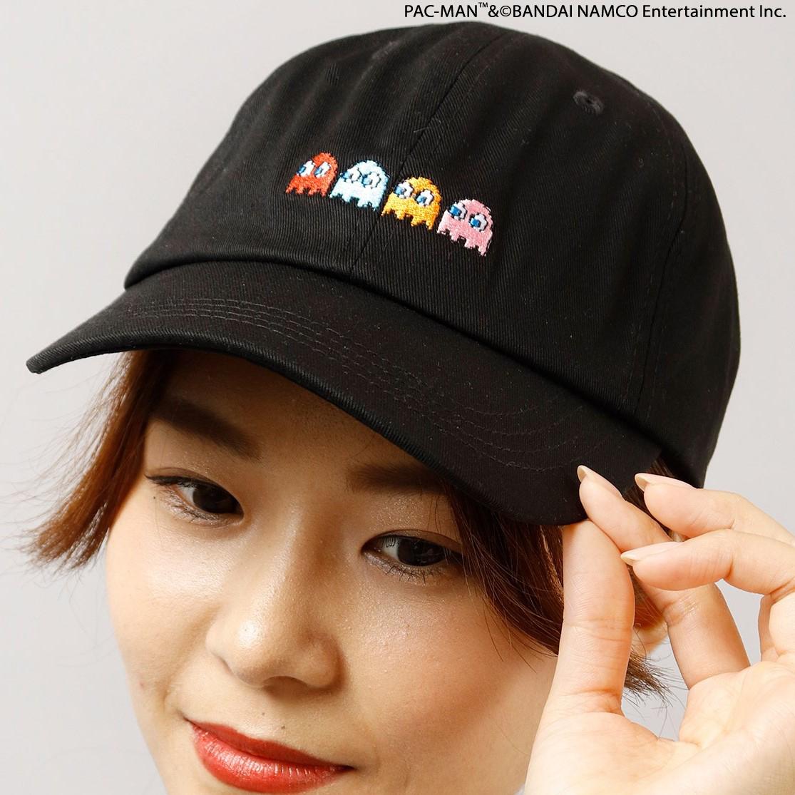 PAC-MANコラボ!ゴースト刺繍CAP