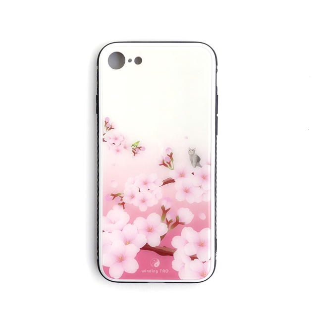 いちごミルクのようなスウィートなピンクに癒される♡桜と猫のiPhoneケース