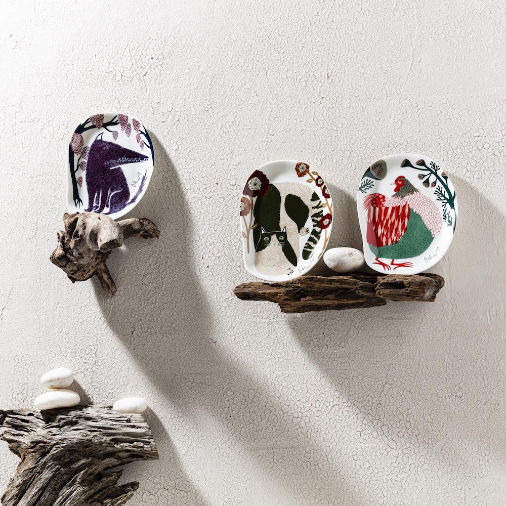 挿絵画家 森田MiWさんデザインの小皿が新発売!ユニークなカタチでアート感いっぱいです。