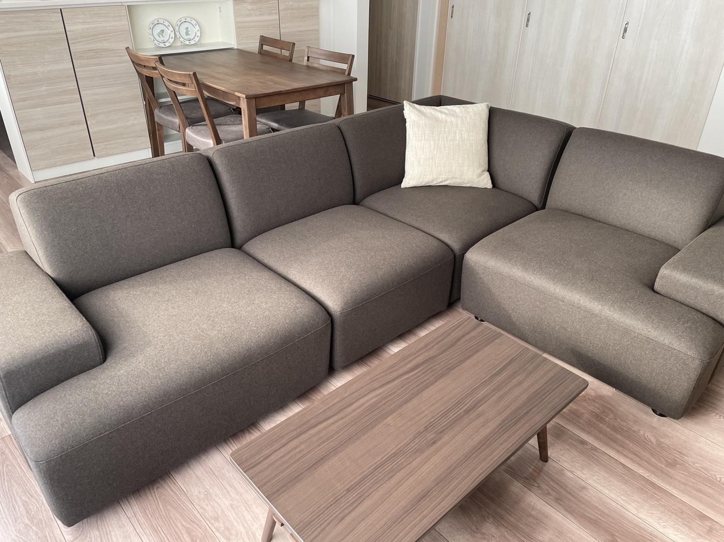 お客様のソファのあるお部屋ご紹介⑭―REコーナーソファ