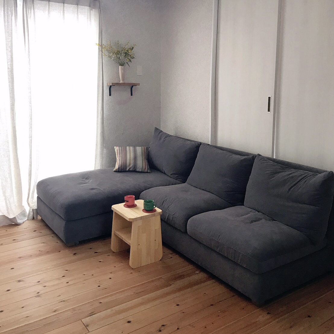 お客様のソファのあるお部屋ご紹介⑮―BLISS片肘カウチソファ