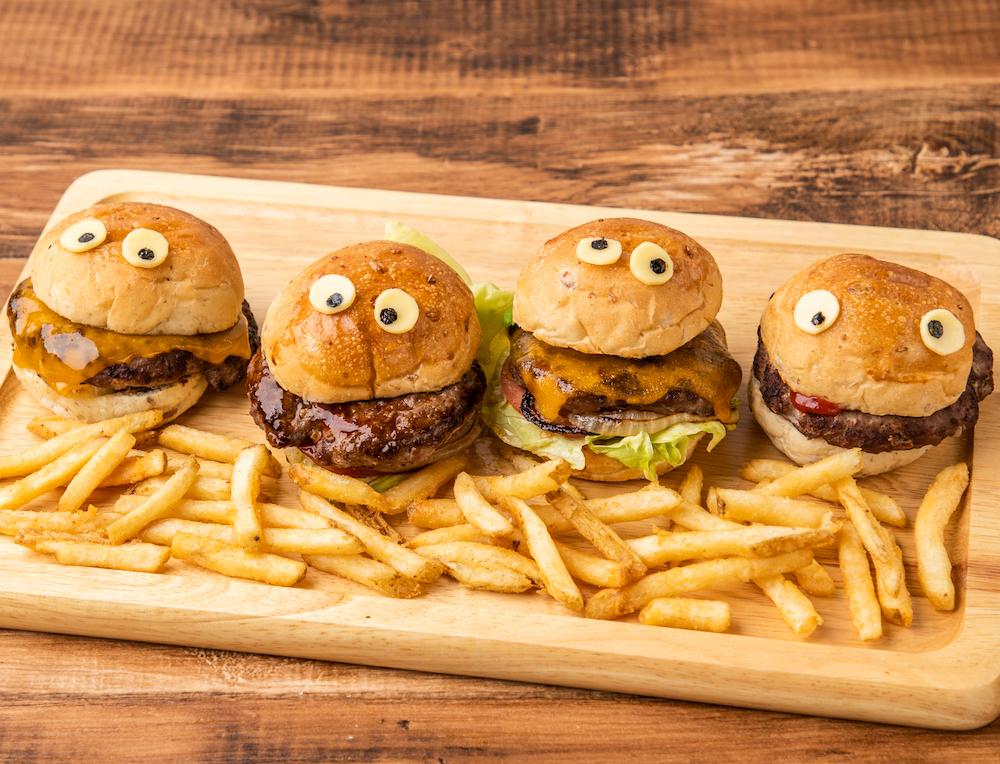 *手作りハンバーガー屋さんキット*ロゴ入りエプロン付き!
