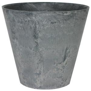 底面給水型 植木鉢/プランター 【ラウンド型 グレー 直径27cm】 底栓付 『アートストーン』
