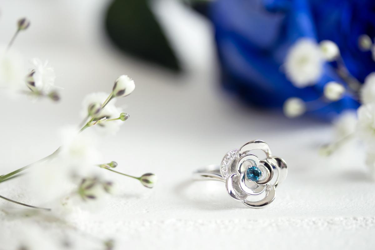 フラワーモチーフリング Blue Rose Collection 2019'