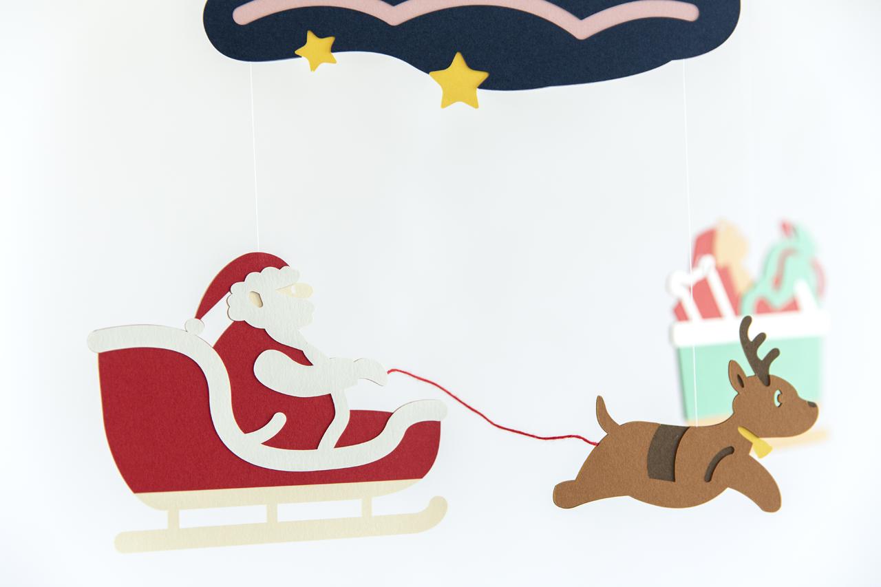 クリスマスも、モビールで彩ろう!「サンタクロースが往く」が今年も好評発売中!