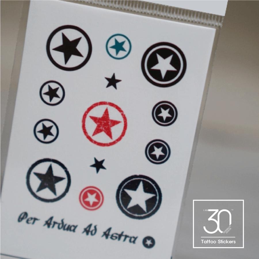 Circle Star タトゥーシール (感性デザイン)