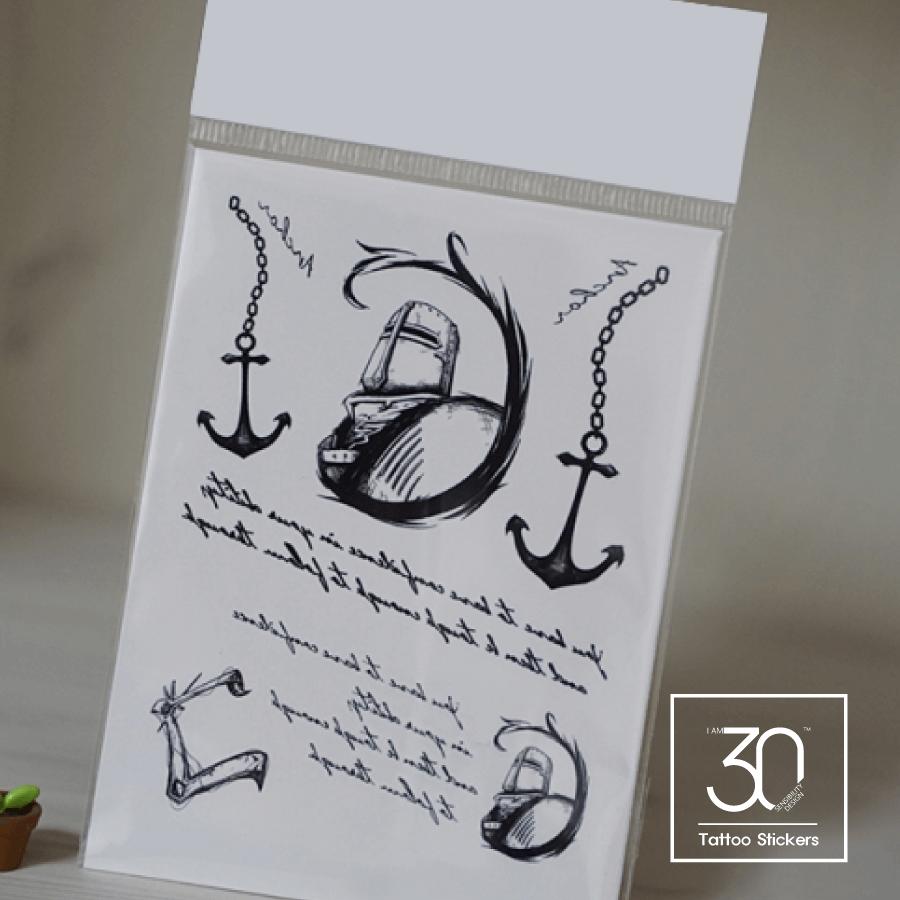 anchor タトゥーシール (感性デザイン) [Lサイズ]