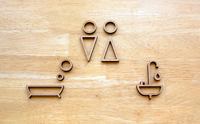 おうちで使える!簡単に貼れるシンプルなサインシリーズ