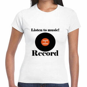 Listen to music!Record Tシャツ