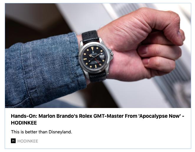 地獄の黙示録(Apocalypse now) 40周年記念 マーロン・ブランド トリビュートモデル