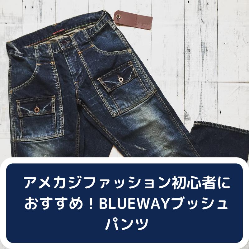 アメカジファッション初心者におすすめ!BLUEWAYブッシュパンツ