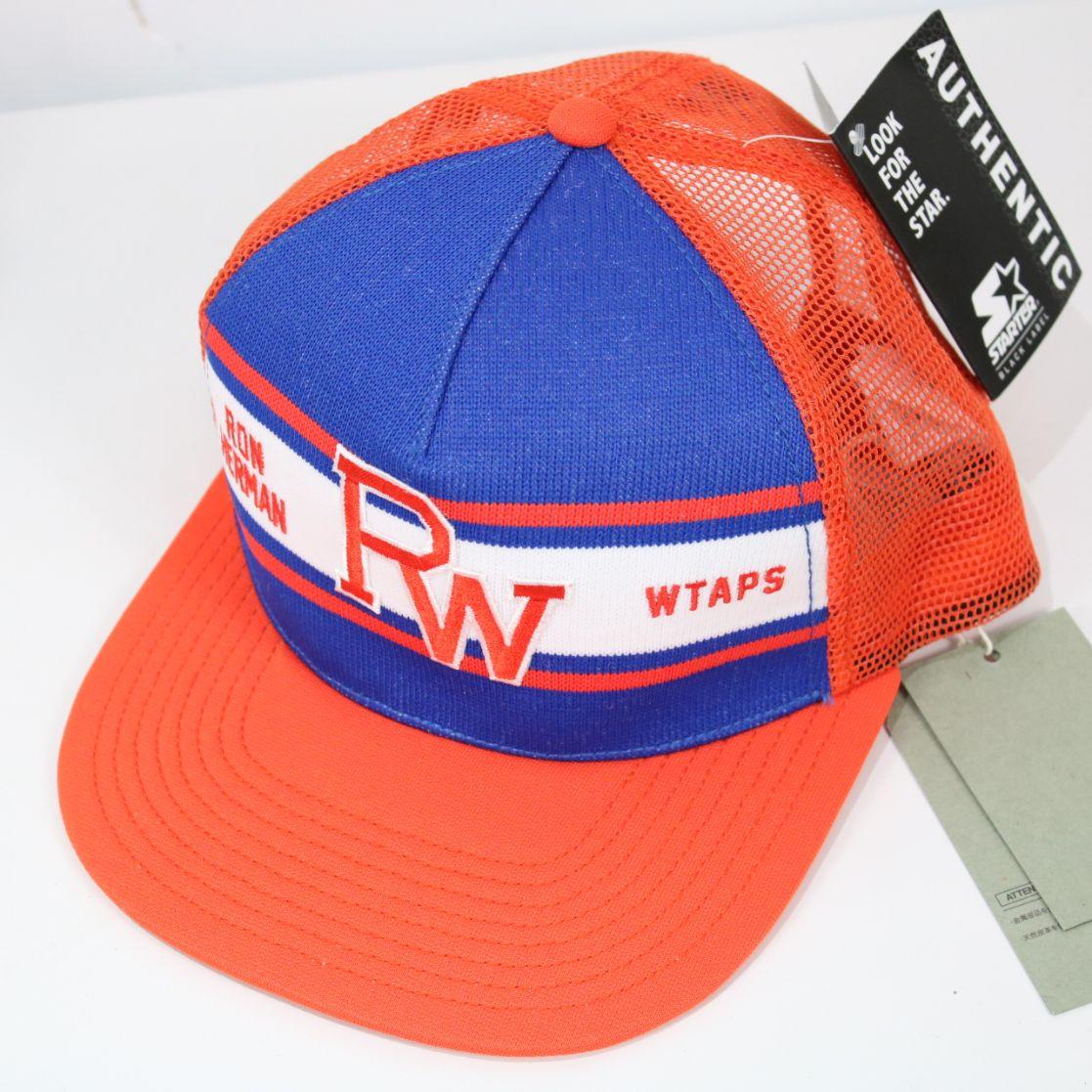 【新品】WTAPS / ダブルタップス | Ron Herman×STARTER ロゴ刺繍メッシュキャップ | F | オレンジ×ネイビー