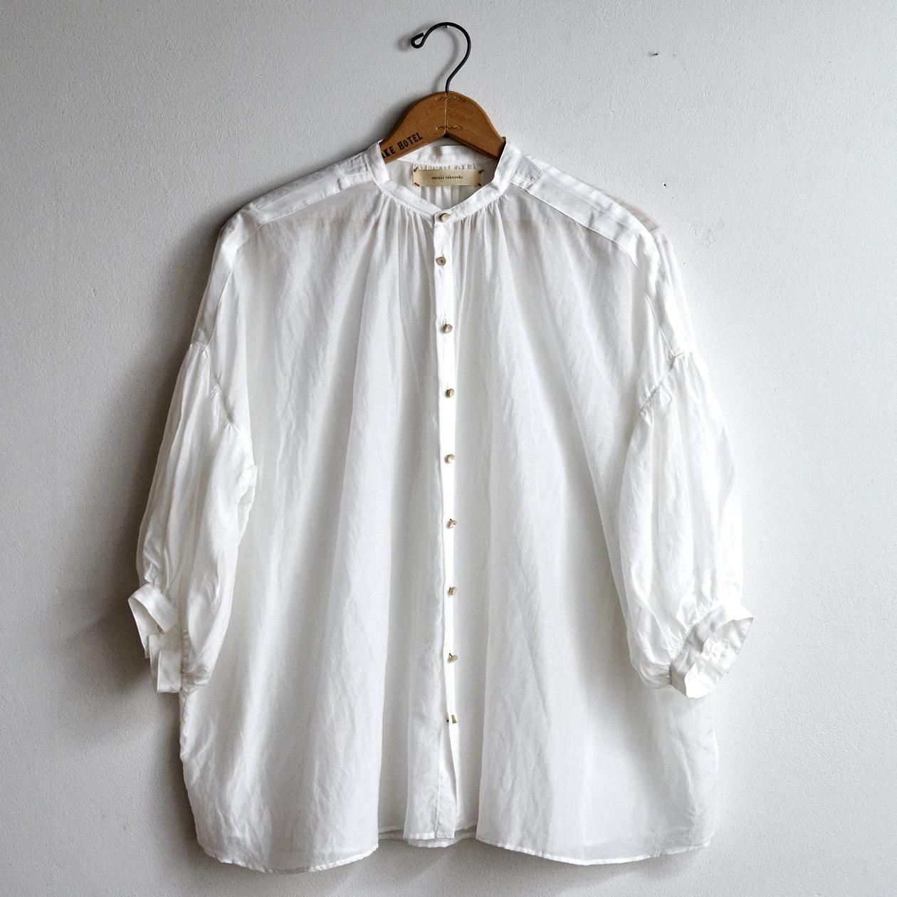 suzuki takayuki スズキタカユキ puff-sleeve blouse nude S211-13 (レディース)