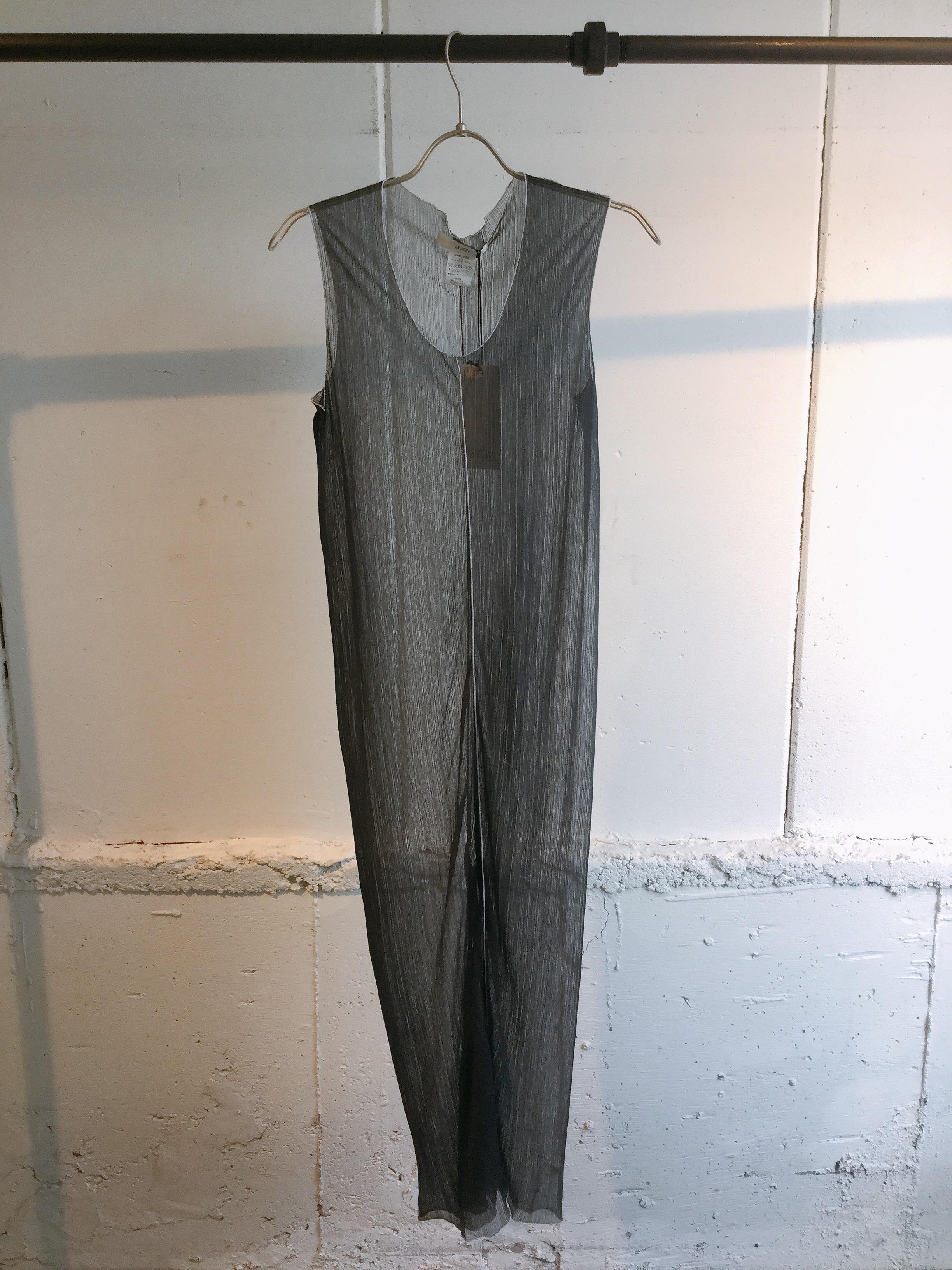 GVGV SHEER JERSEY SLEEVELESS DRESS (GREY)