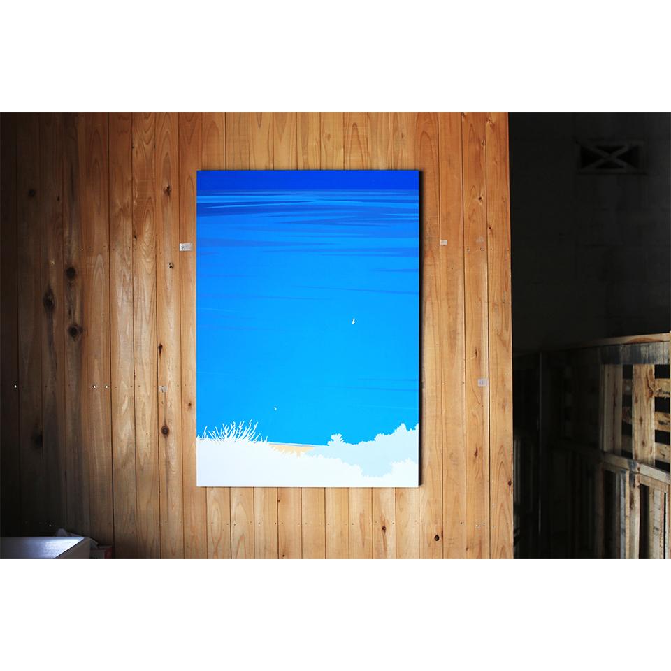 「また会いましょう」acrylic on panel 1030×728×30mm
