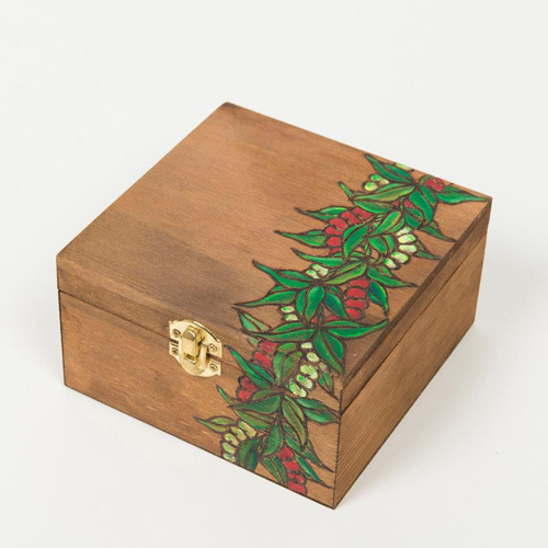 Wood box ['Ohelo&Mile Lei]【KNGD-0061】