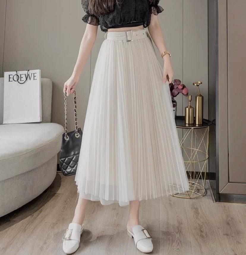 belt tulle A line skirt 3color