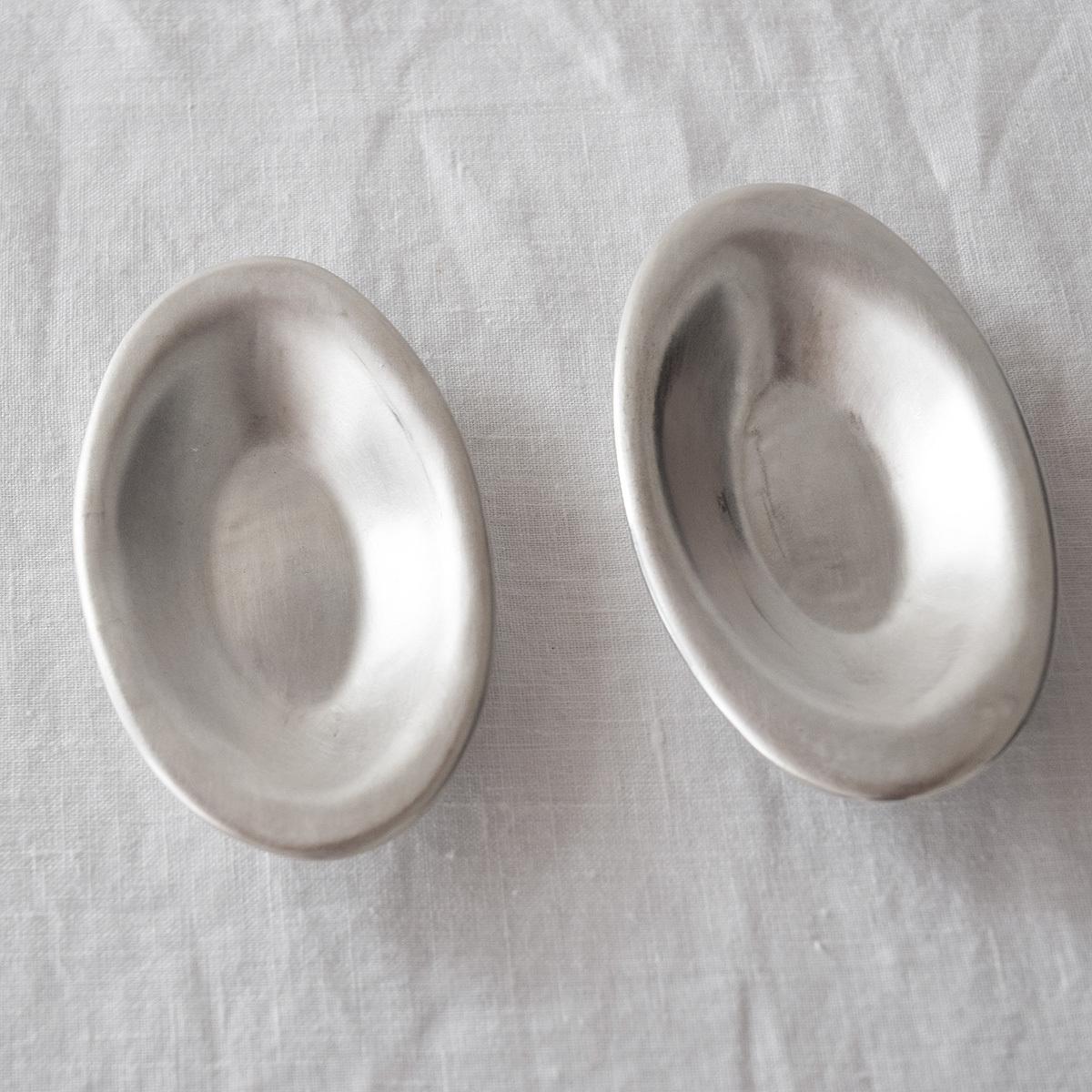 オノエコウタ Kota Onoe  銀葉型小皿