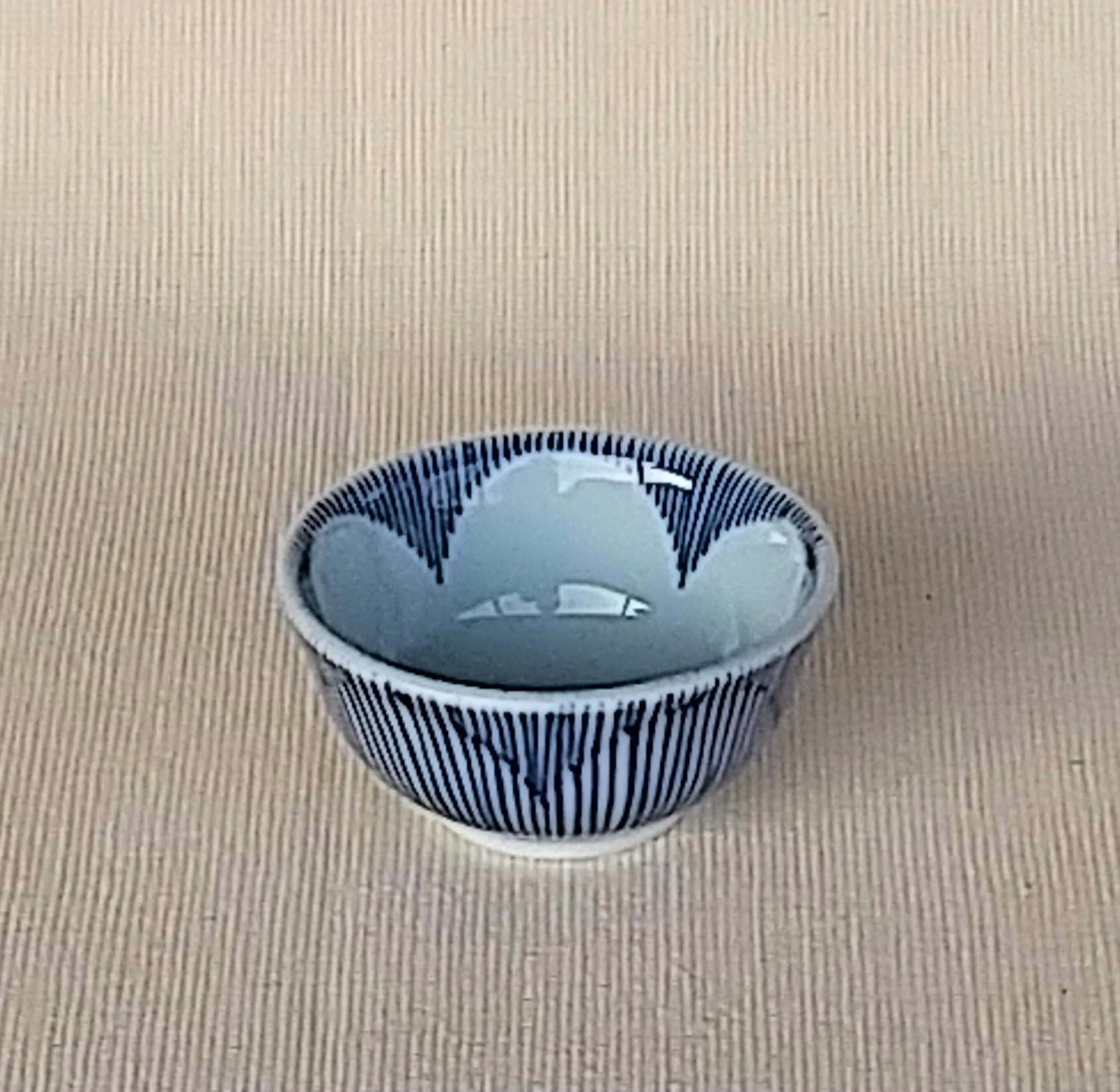 伐太郎窯 染付 梅千筋 盃