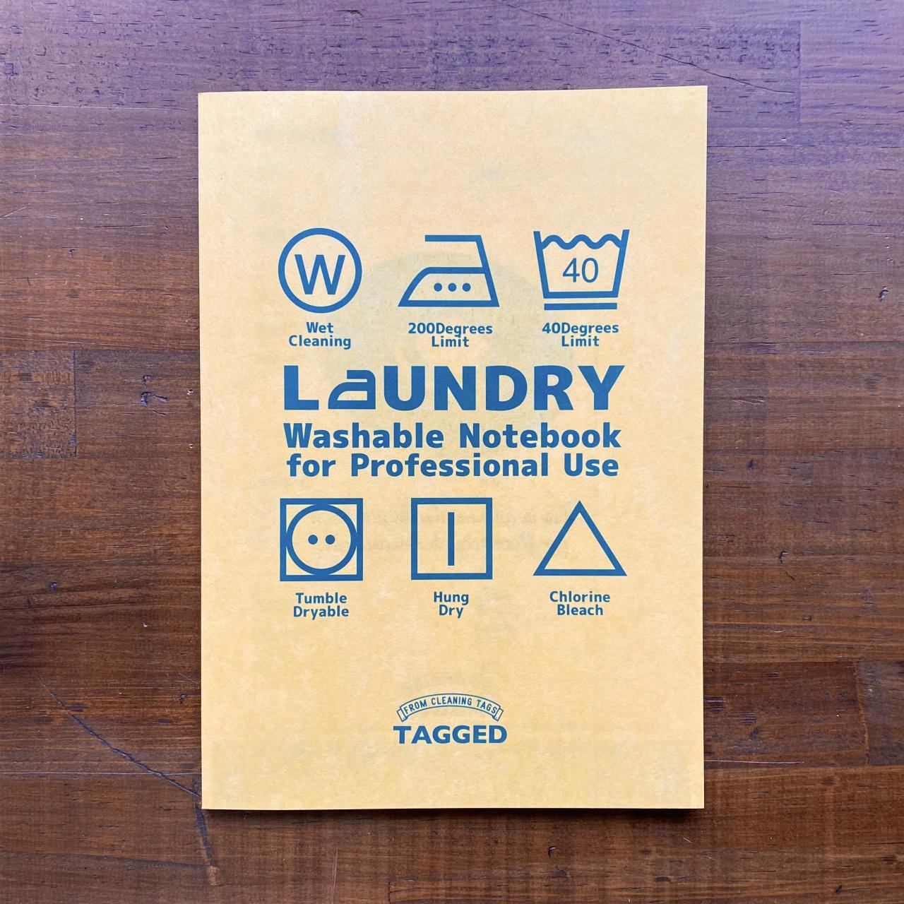 洗えるA5耐洗紙ランドリーノート(イエロー)