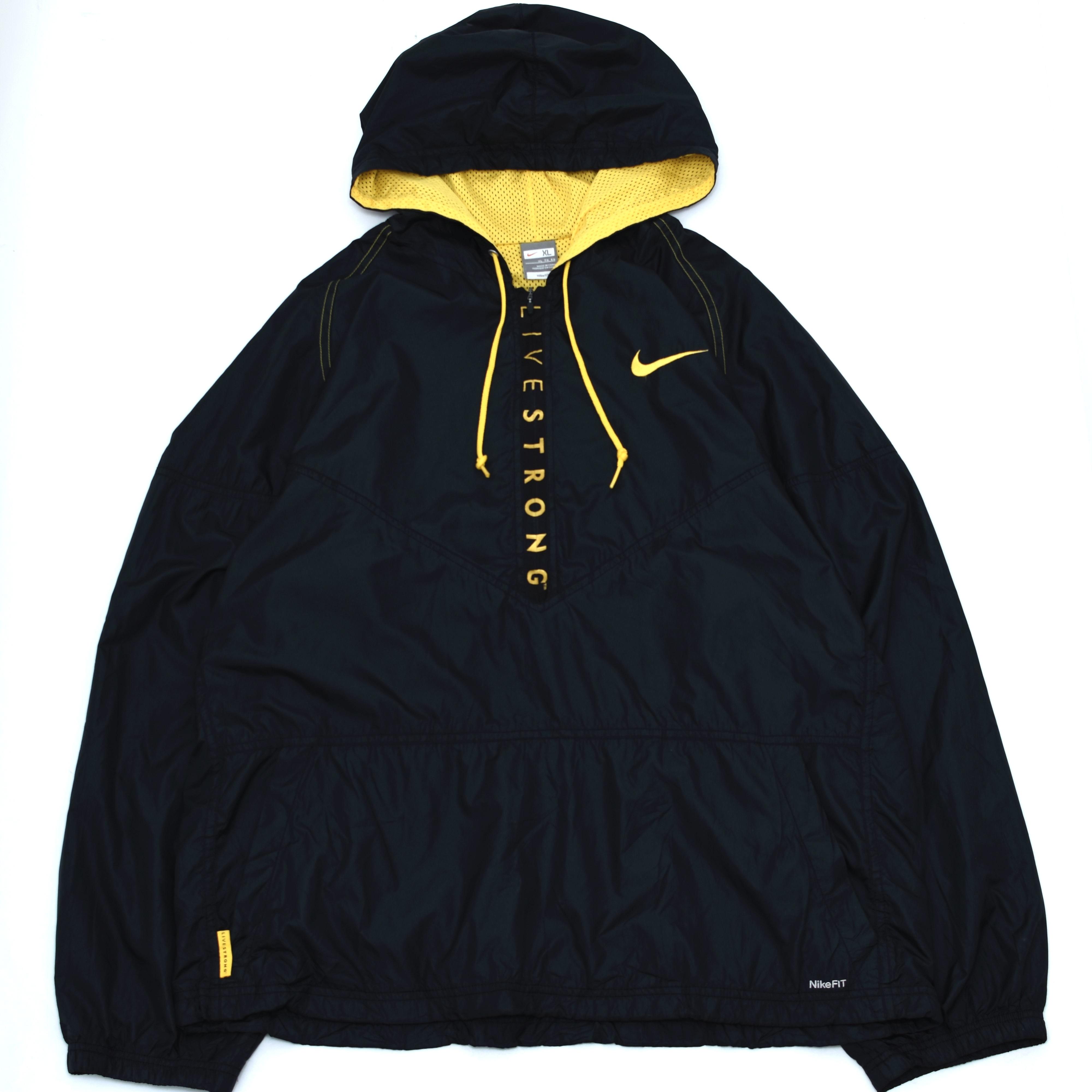 NIKE LIVESTRONG half zip nylon jacket