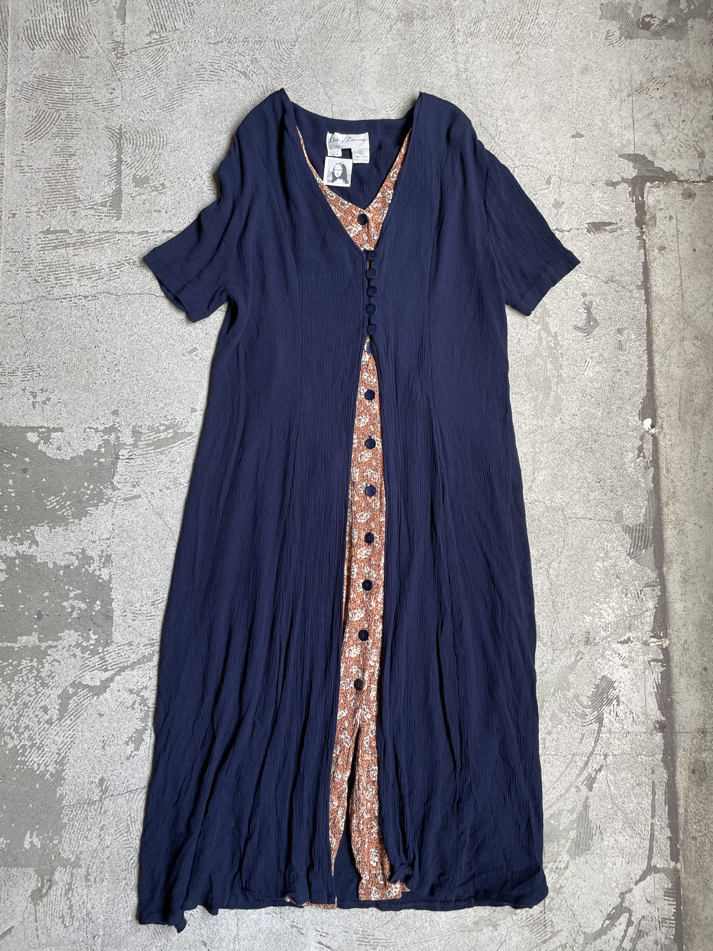"""Besty Lauren"" vintage rayon dress"