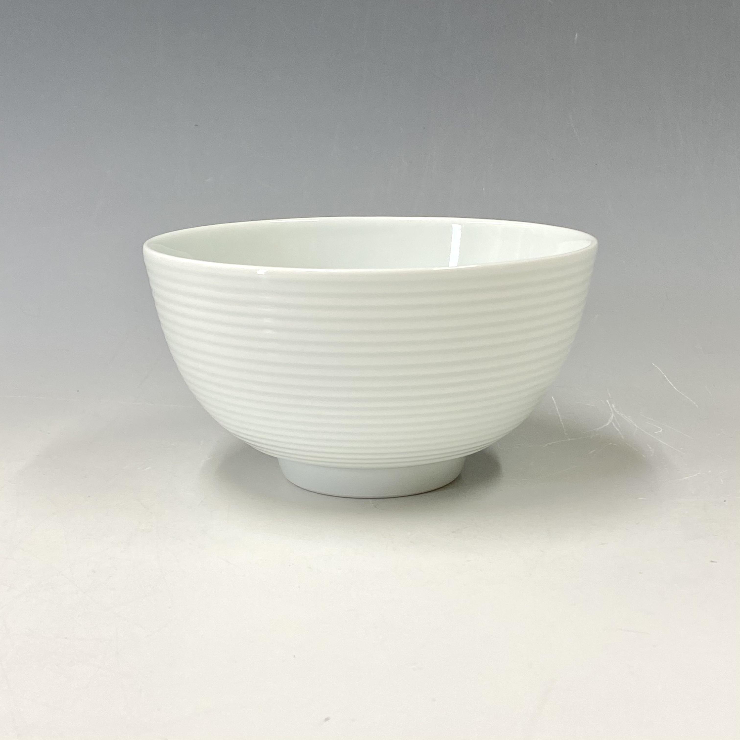 【中尾恭純】白磁線段麺鉢(高台)