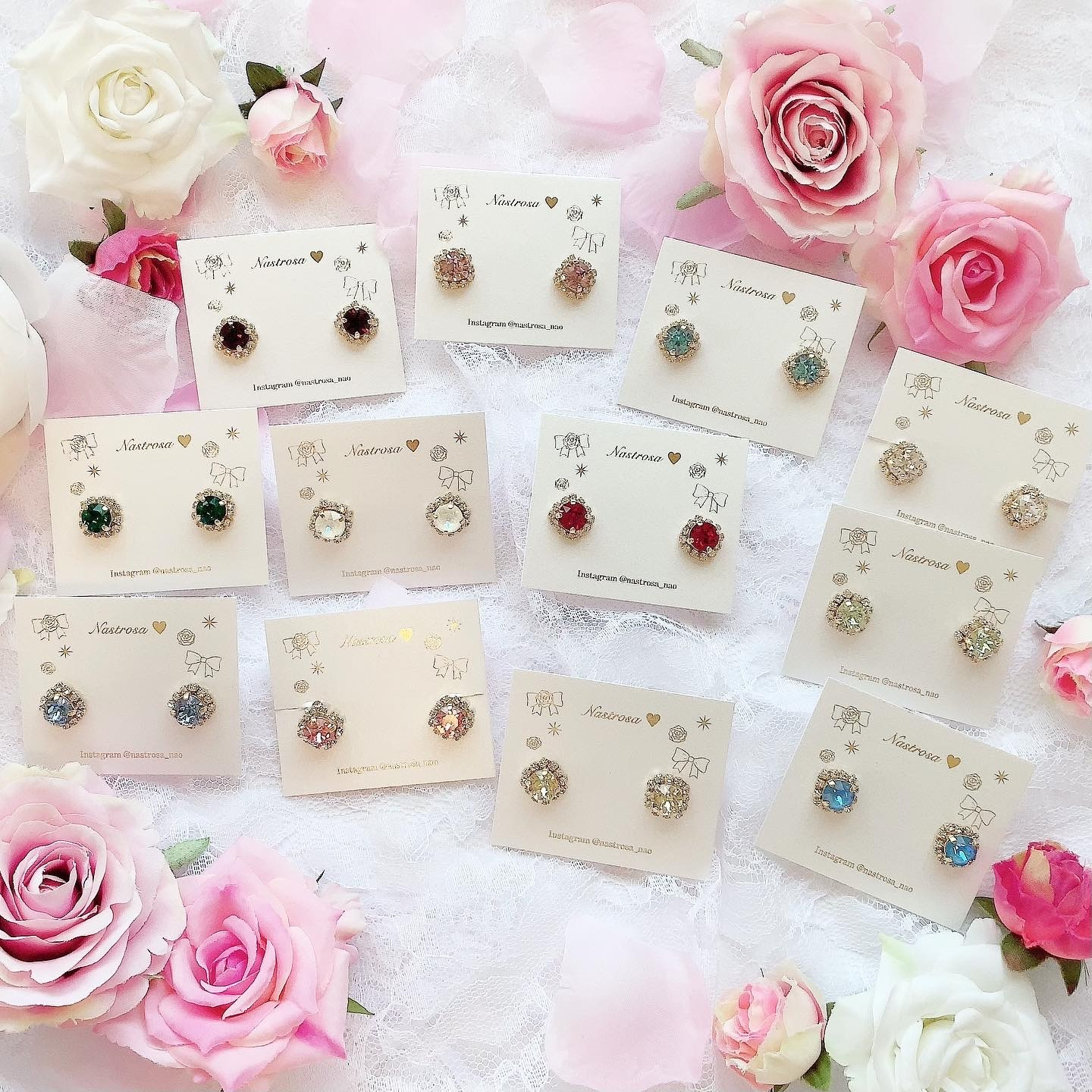 Birthstone color♡earring