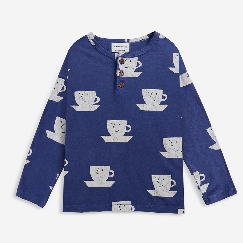 BOBOCHOSES Cup Of Tea All Over buttoned T-shirt
