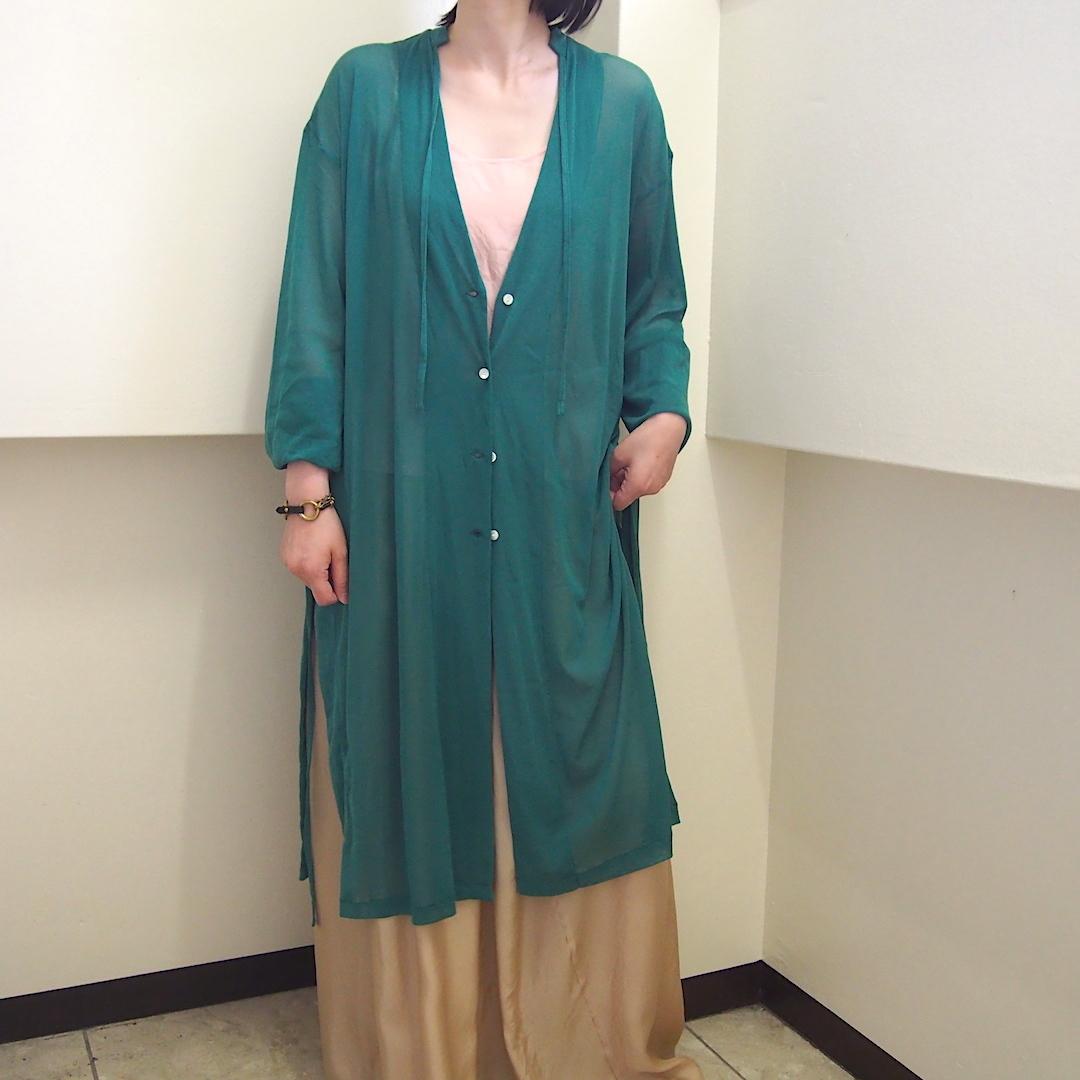 【hippiness】tulle over cardigan(green) /【ヒッピネス】チュール オーバー カーディガン(グリーン)
