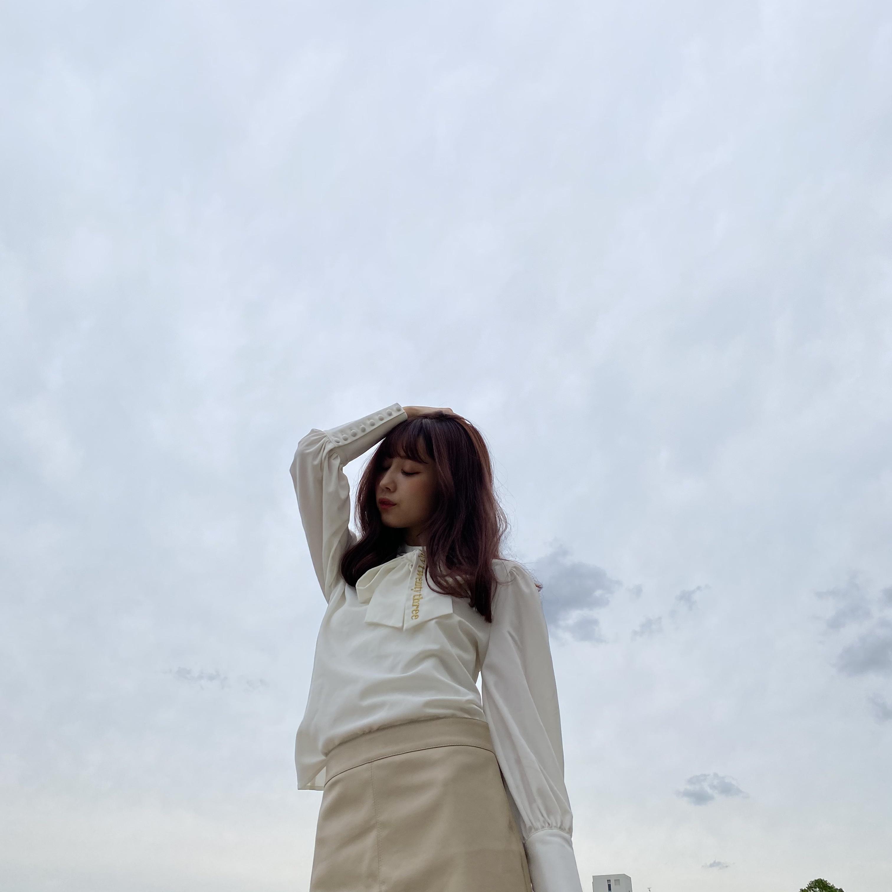 【original】ribbon blouse(white)