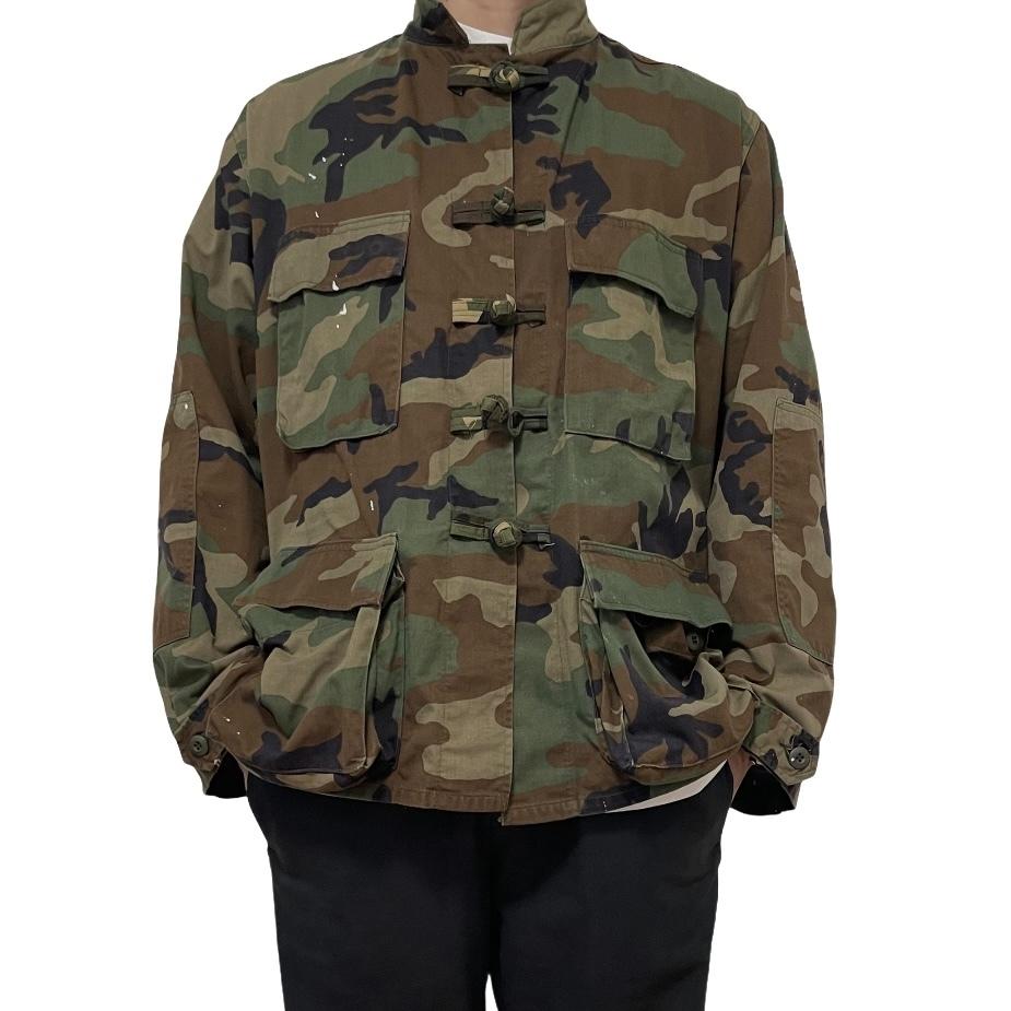 90's U.S. ARMY BDU JACKET Woodland Camo Remake China Jacket M-S