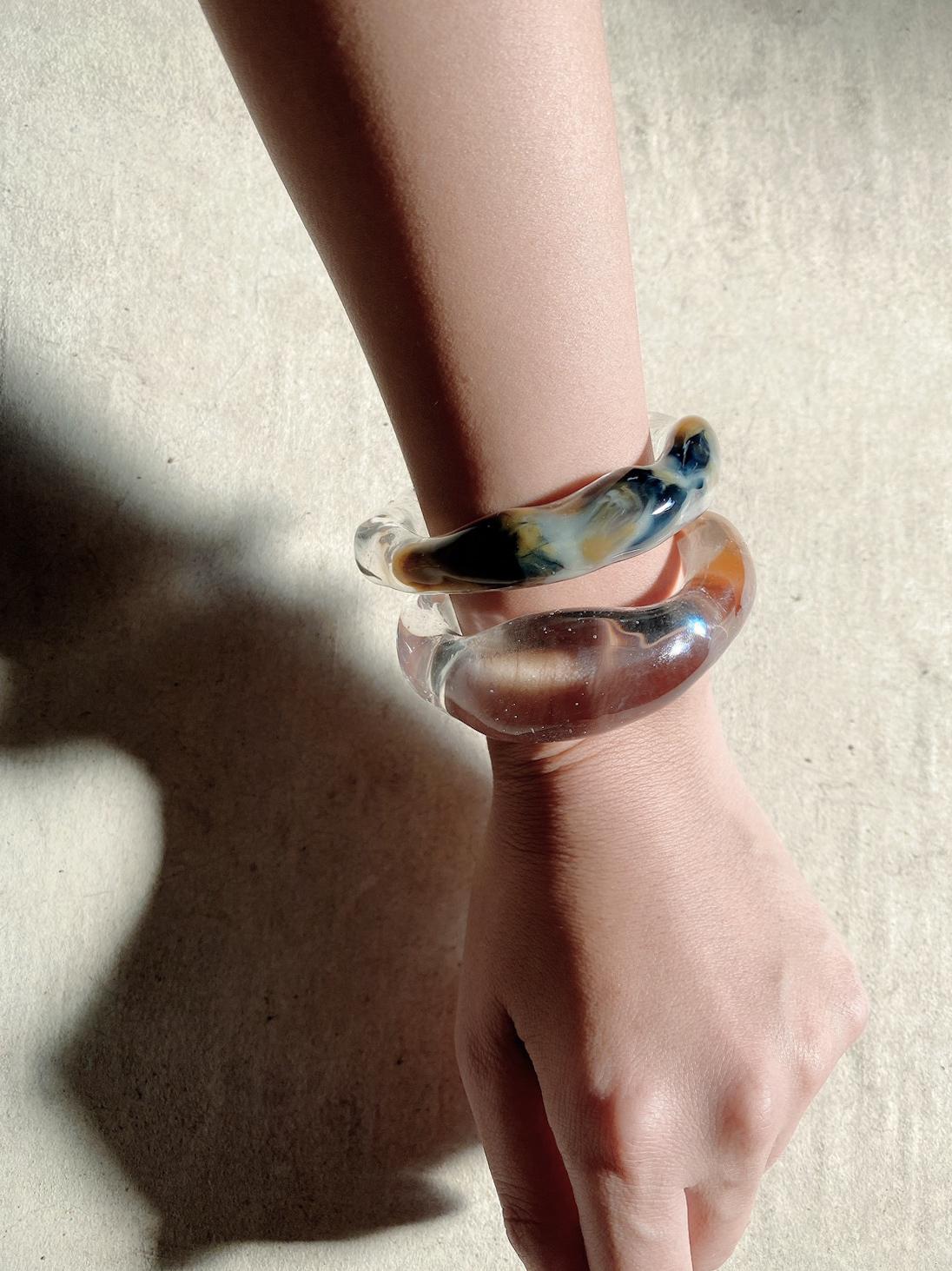 【8/5-8/9限定受注】melt bangle(clear/gold)