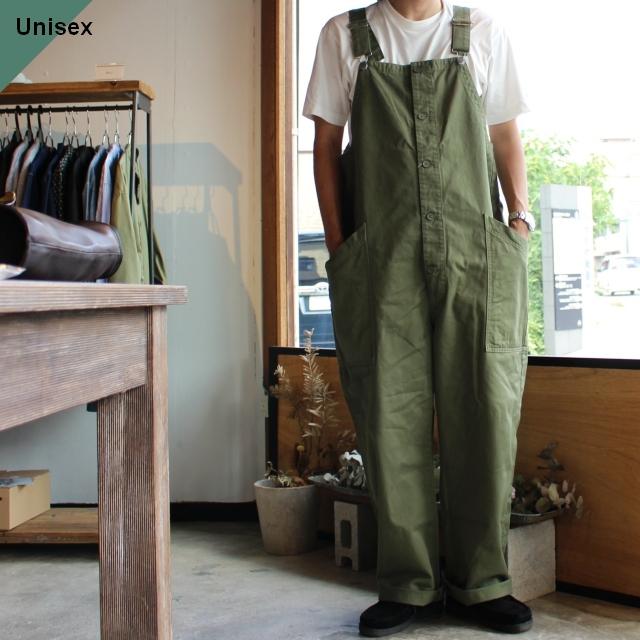 【再入荷!】HARVESTY ハーベスティ CHINO CLOTH OVERALLS チノクロスオーバーオール A12008 グリーン