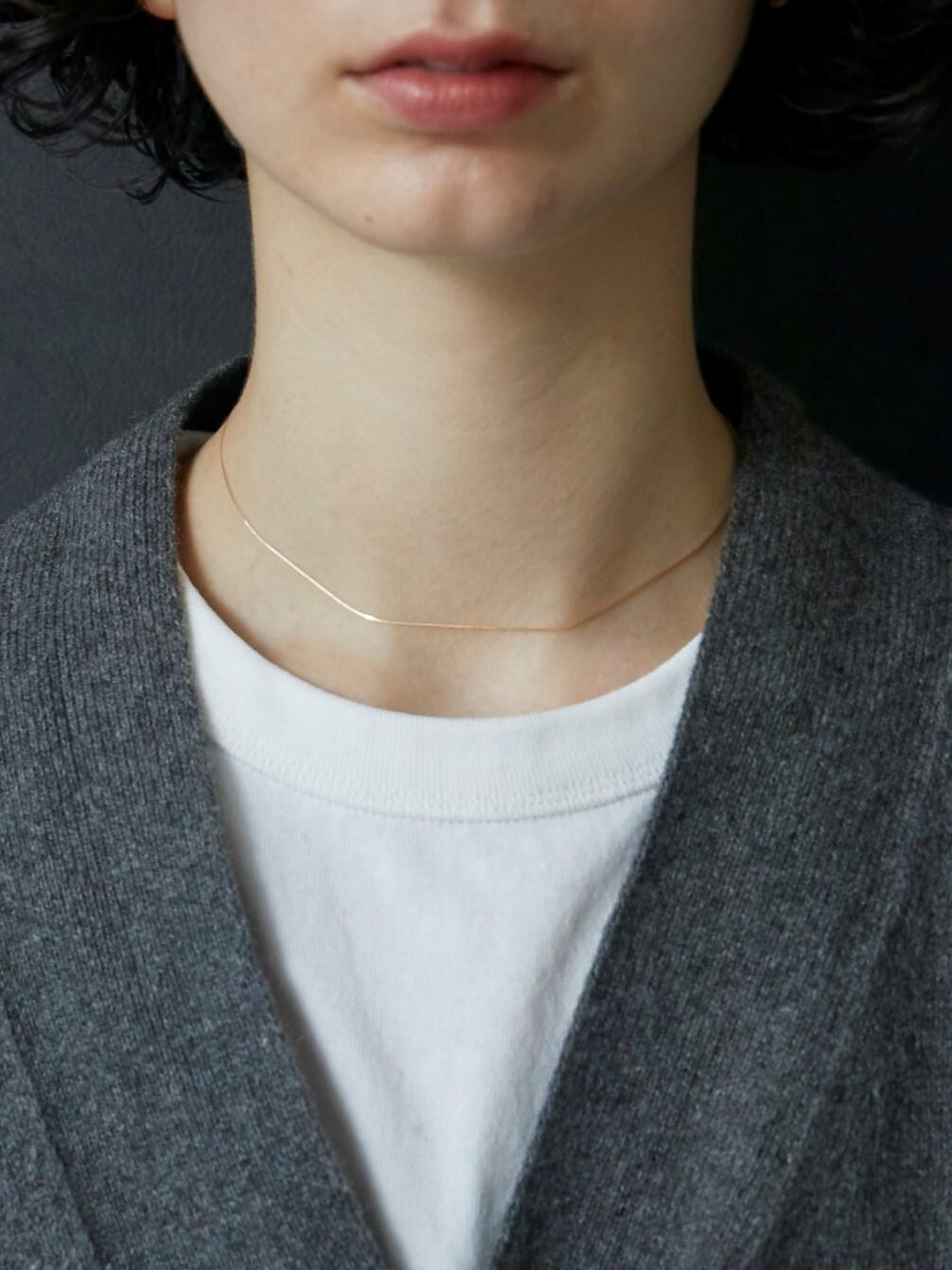 adjustable ball venetian necklace gold K10 (再入荷)