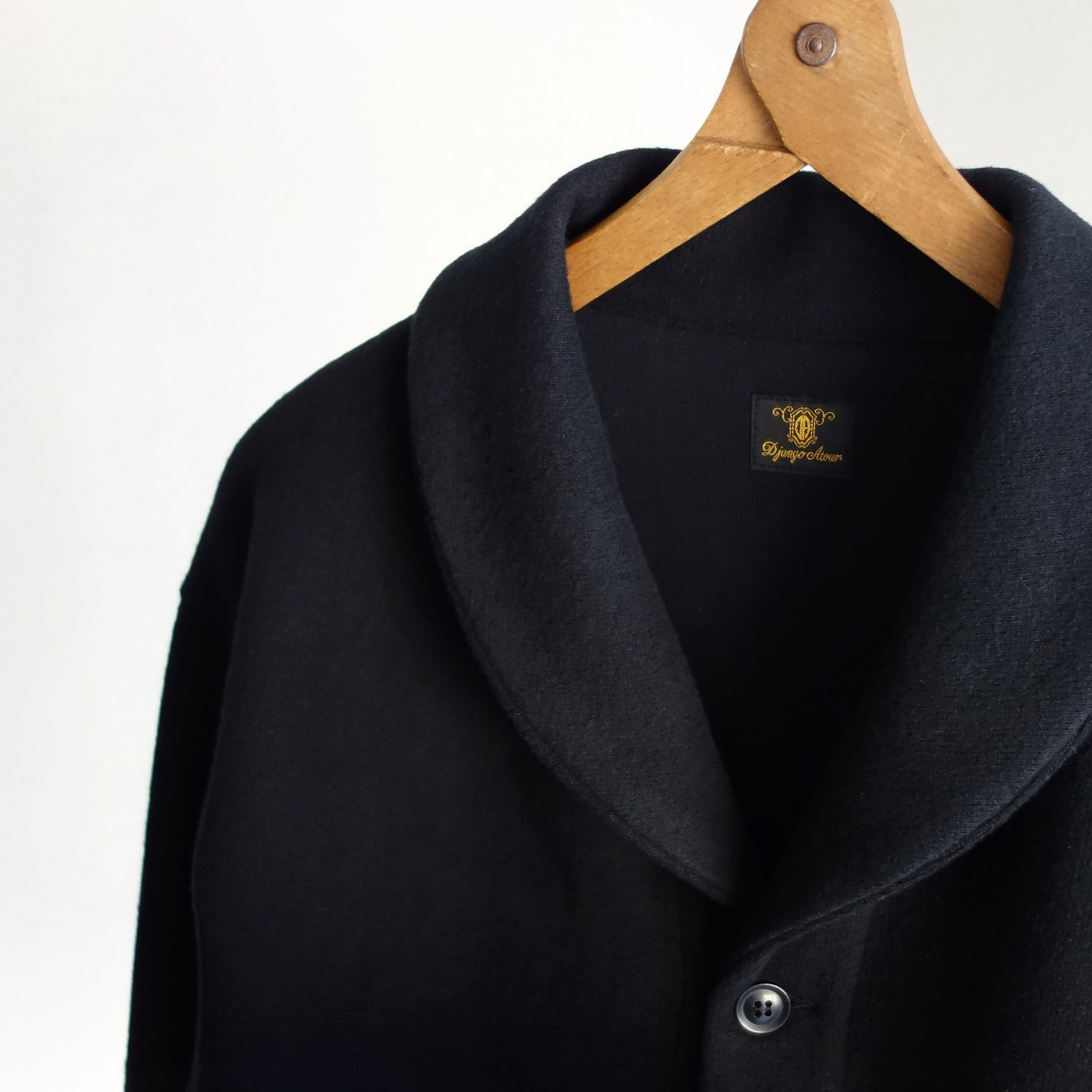classic shawlcollar wool jacket / black