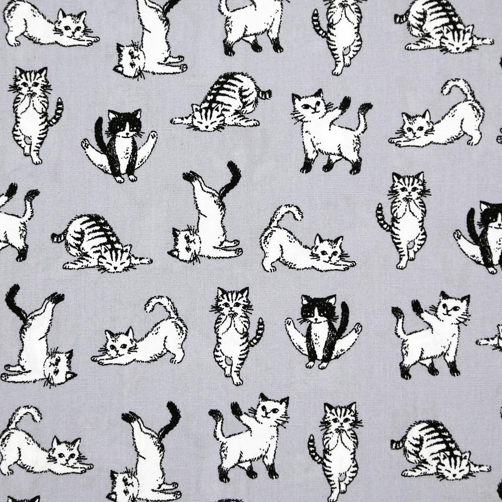 猫ナプキンバンダナ(ポーズねこ)グレー