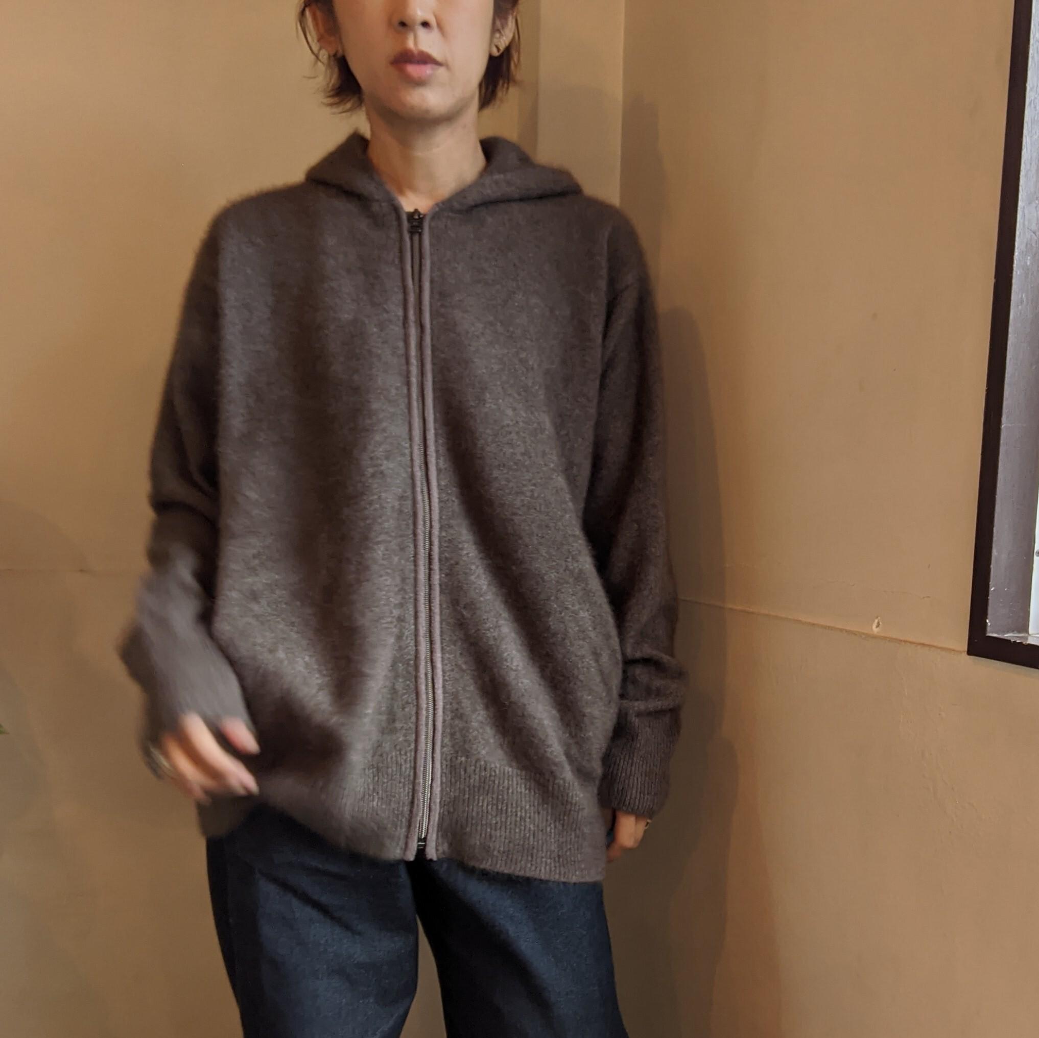 【 C.T.plage 】シーティープラージュ / raccoon wool knit hoodie / ニットパーカー / ラクーンウール