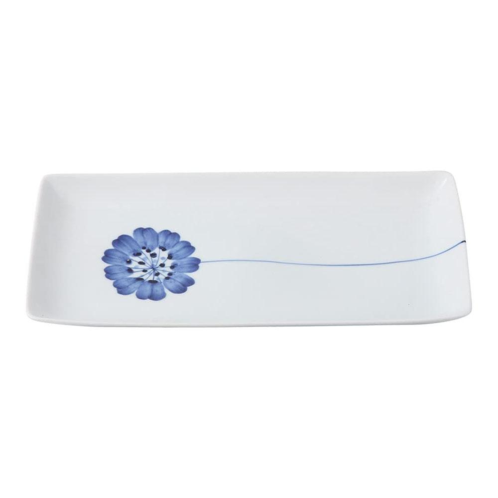 波佐見焼 WAZAN 和山窯 flowers 長角プレート 皿 一輪花 323577