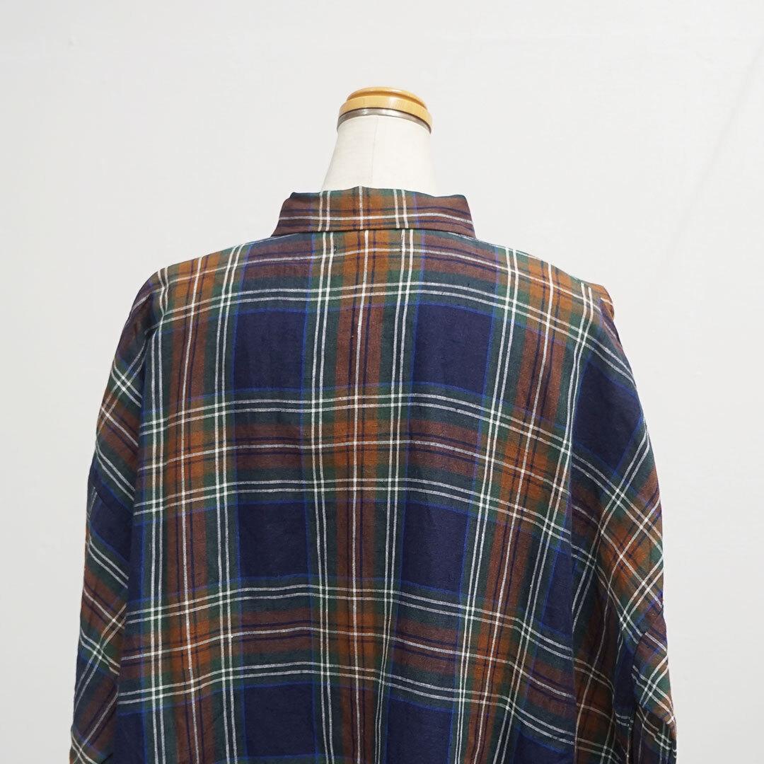 【再入荷なし】 ICHI Antiquites イチアンティークス LINEN TARTAN CHECK DRESS リネンタータンチェックワンピース (品番600616)