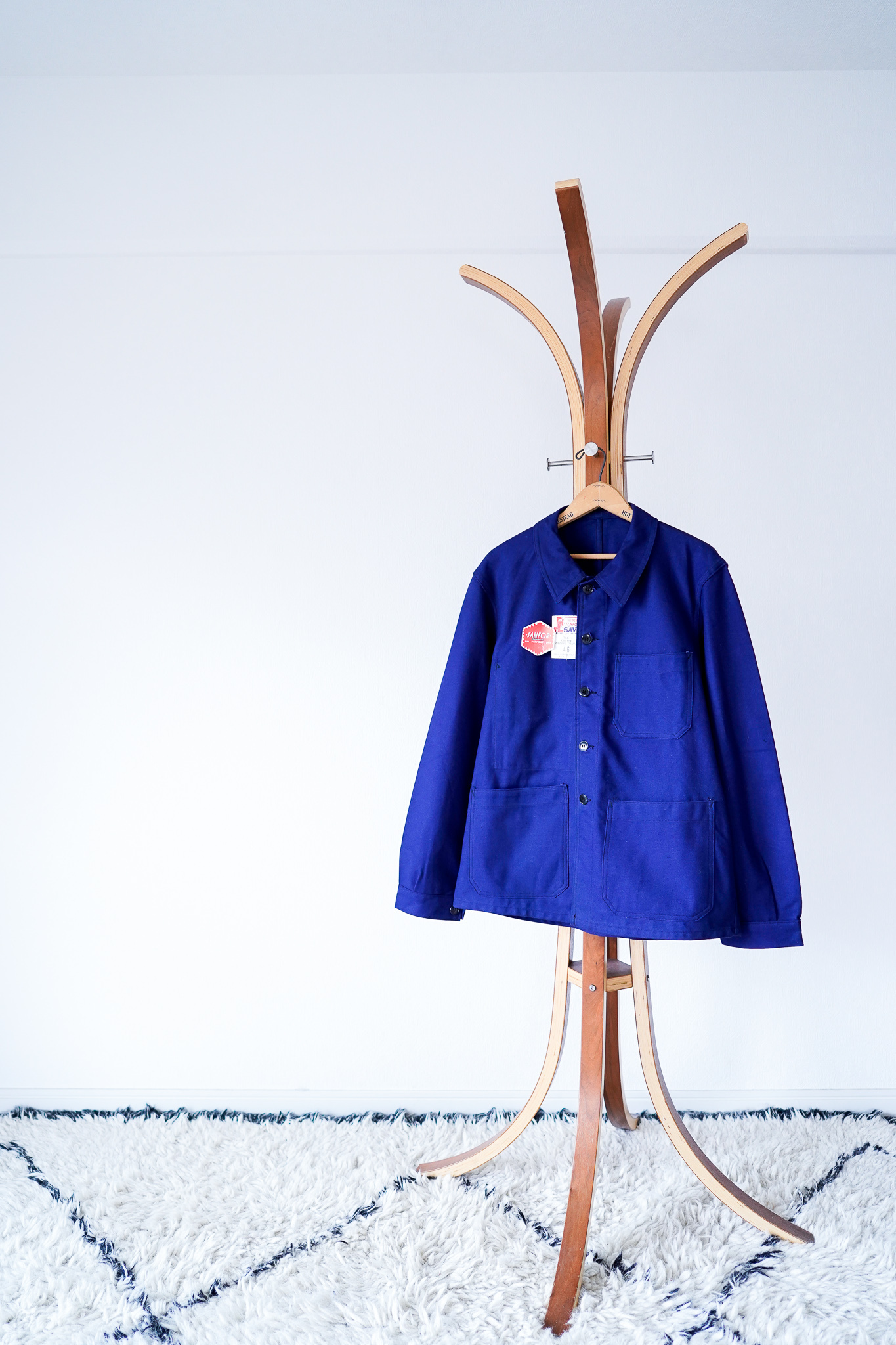 """【1950-60s, Deadstock】""""SAVO"""" French Work JKT, Cotton Twill / v581"""