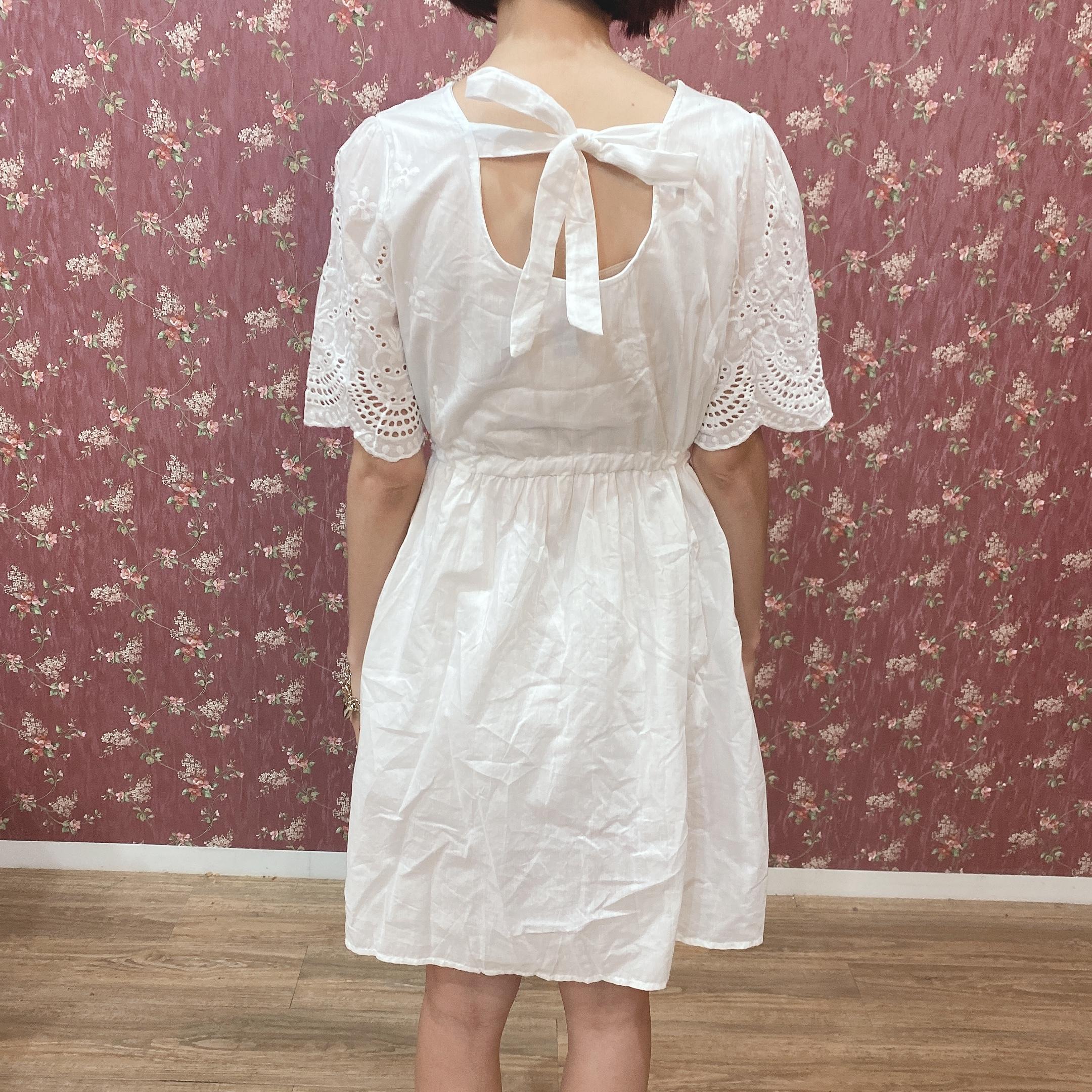 back ribbon cotton op