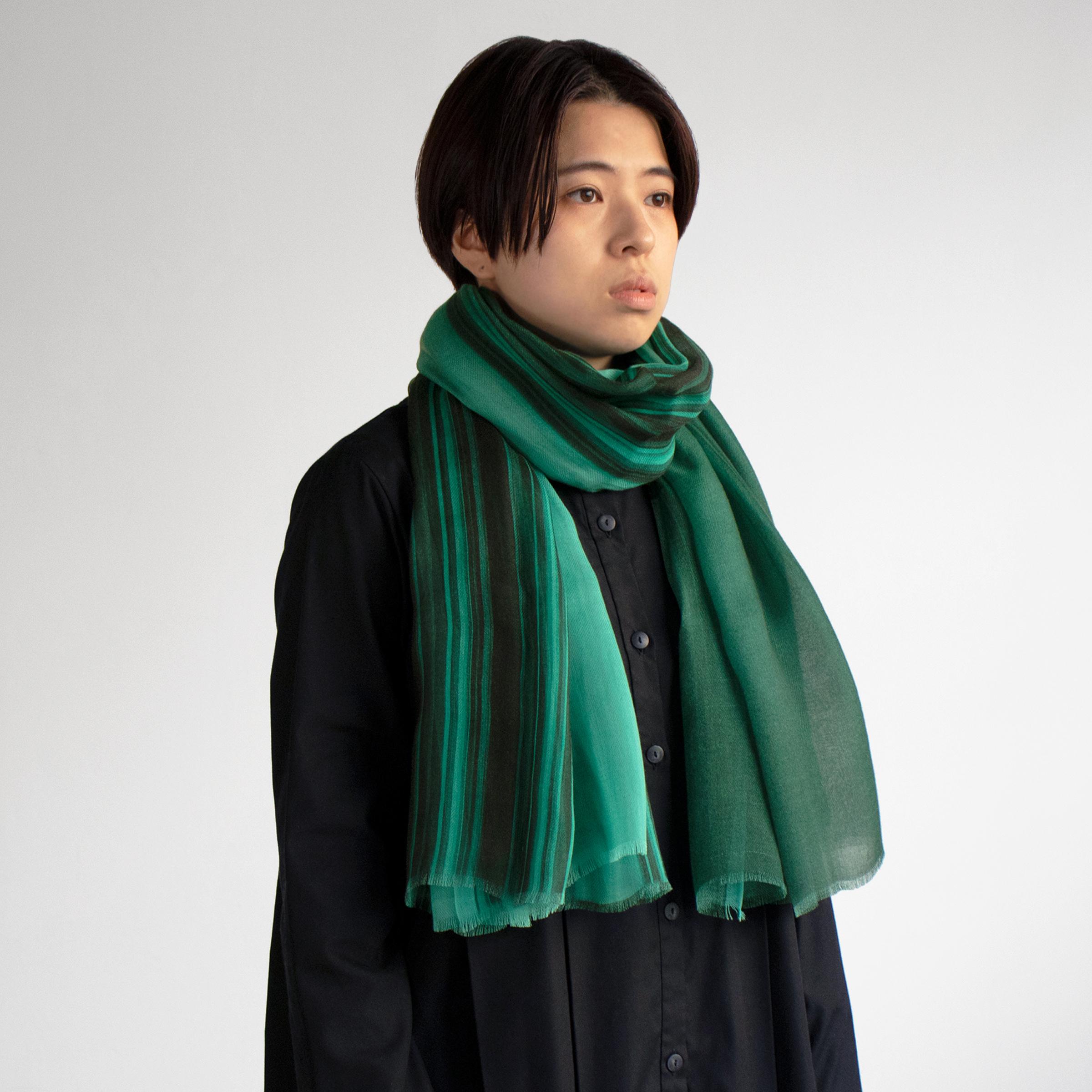 Shizuka Tatsuno ・grad. × marumsu Stole over-dye 2colors