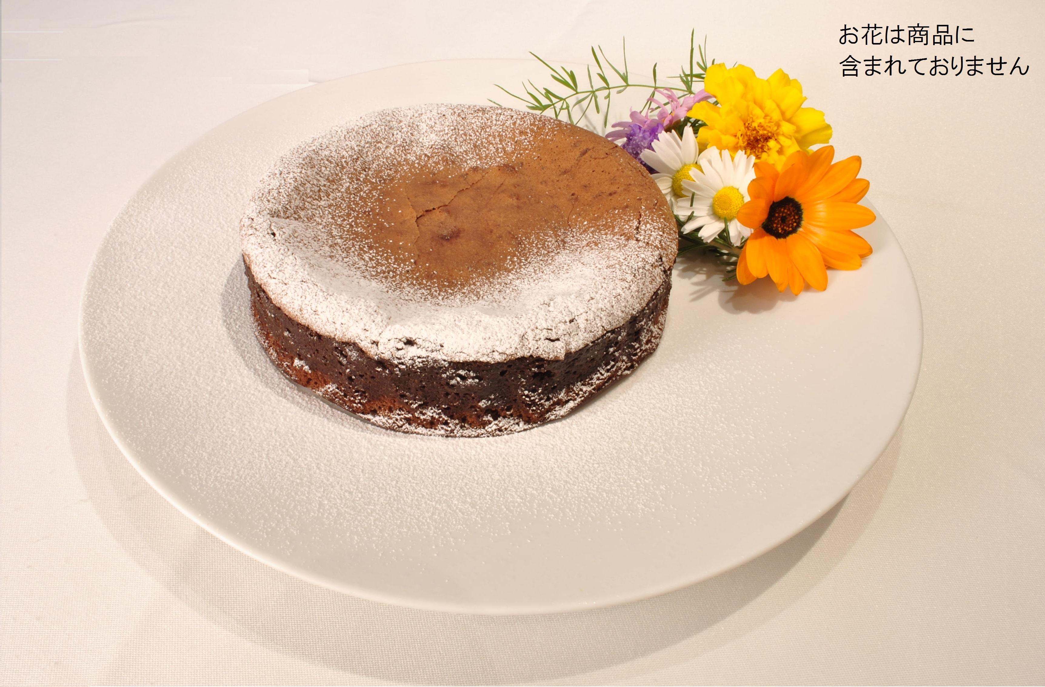 フランス・バローナチョコレート100%の濃厚ガトーショコラ(冷凍)